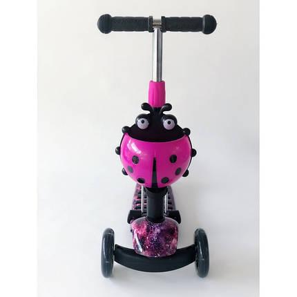 Самокат-беговел 2 в 1 Scooter Pro PP3 Божья Коровка | Фиолетовый, фото 2