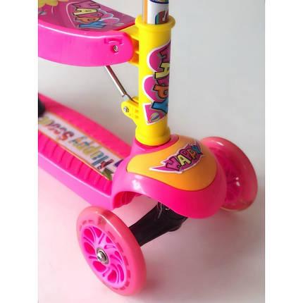 Самокат-беговел 2 в 1 Scooter Pro 028 с пропеллером   Розовый, фото 2
