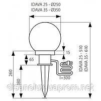 Светильник грунтовый IDAVA 25, E27, IP44, белый, Kanlux 23510, фото 2