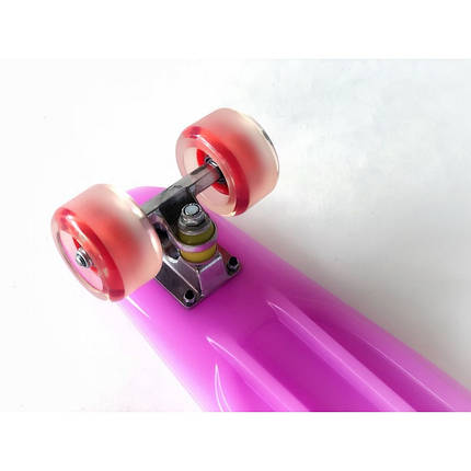 Пенни борд Penny Board 220 со светящимися колесами   Фиолетовый, фото 2