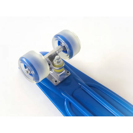 Пенни борд Penny Board 220 со светящимися колесами   Синий, фото 2