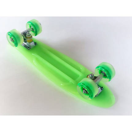 Пенни борд Penny Board 220 со светящимися колесами   Зеленый, фото 2