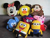 Герои мультфильмов, популярные персонажи игрушки-подушки