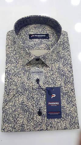 Рубашка короткий рукав Passero c принтом, фото 2