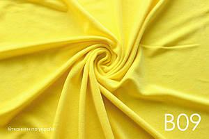 Бавовняний велюр жовтий