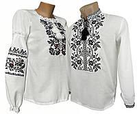 Парні вишиванки на білому полотні  Борщівська вишиванка