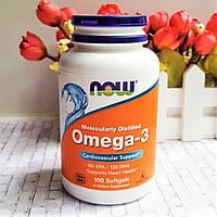 Риб'ячий жир Омега-3 NOW Omega-3 100 caps