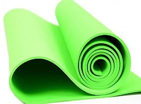 Мат для йоги EVA 173 х 61 см (0380) Зеленый