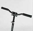 Дитячий двоколісний самокат Best Scooter 70875, з амортизацією, затиском керма, PU колесами, чорний, фото 2