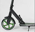 Дитячий двоколісний самокат Best Scooter 70875, з амортизацією, затиском керма, PU колесами, чорний, фото 5