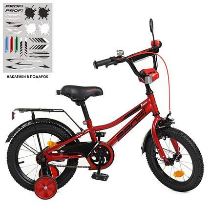 Велосипед детский PROF1 14 Д. Y14221 красный, фото 2