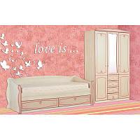 Спальная комната детская для девочки Ева модульная
