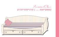 Кровать полуторная Ева для девочки