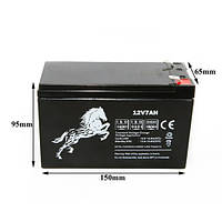 Аккумуляторная батарея 12v 7AH MUSTANG источников бесперебойного питания ИБП, UPS / Mustang energy 12V7Ah/20Hr