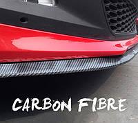 Универсальная губа КАРБОН 4D резиновая SAMURAI Performance накладка-сплиттер для бампера и порогов 2.5 метров