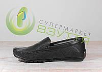 Кожаные мужские туфли Мида 13024 син 40,45 размеры, фото 1