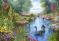 Пазлы 1500 элементов Castorland 151042 Черные лебеди