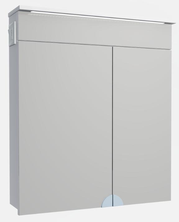 Зеркальный шкафчик в ванную Atmc-70 LED Allet ВанЛанд