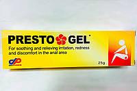 Престо гель (presto gel) 25 г Израиль - противовоспалительное средство при геморрое