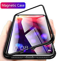Магнитный чехол для Huawei P40 Lite стекло с двух сторон (3 Цвета)