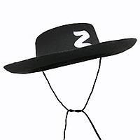 Шляпа Зорро Флок   KSG-3794