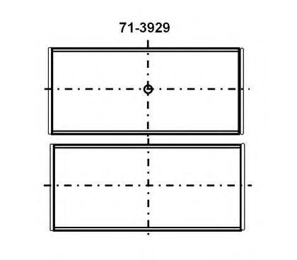 Вкладиші корінні Glyco 7139294STD