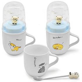 Чашка детская с крышкой и ложкой STENSON 2 шт (R29528)