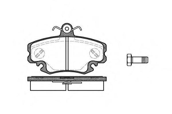 Колодки гальмівні дискові, комплект SCT SP189