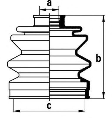 Пыльник ШРУСа Subaru 23222GA112