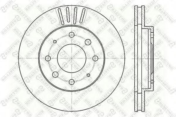 Тормозной диск STELLOX 60203025VSX