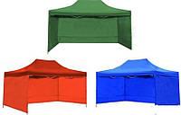 Шатер раздвижной усиленный 3*3 красный, синий, зеленый