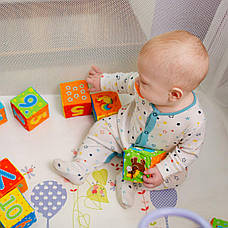 """Набір м'яких кубиків """"Тварини"""" 12 штук, в сумці 34*26*10 см, фото 2"""
