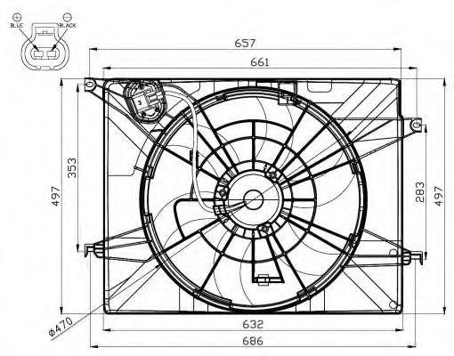 Вентилятор, охлаждение двигателя Hyundai/Kia 252313K460