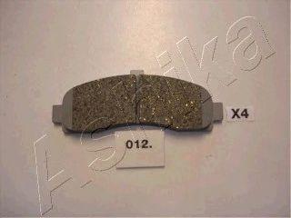 Колодки тормозные дисковые передние, комплект Ashika 5000012