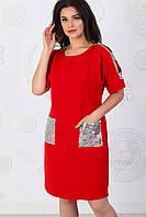 Платье арт. А485 красное с серебром  / красный / красного цвета, фото 1