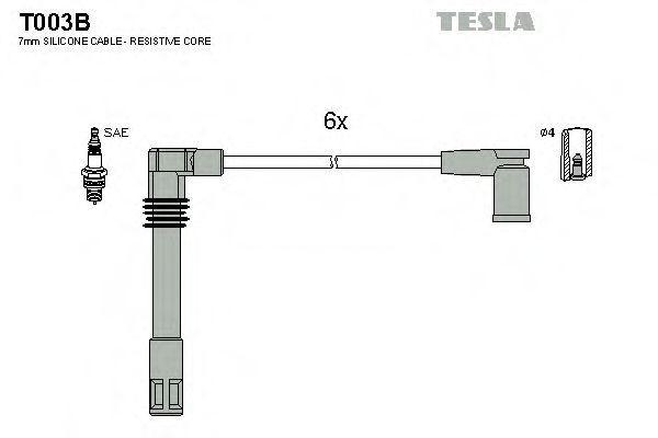 Комплект проводов зажигания Tesla T003B