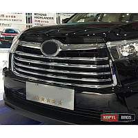 Накладка на решетку радиатора Toyota Highlander 2014- накладки хром ABS ASP JMTTH14GTABS