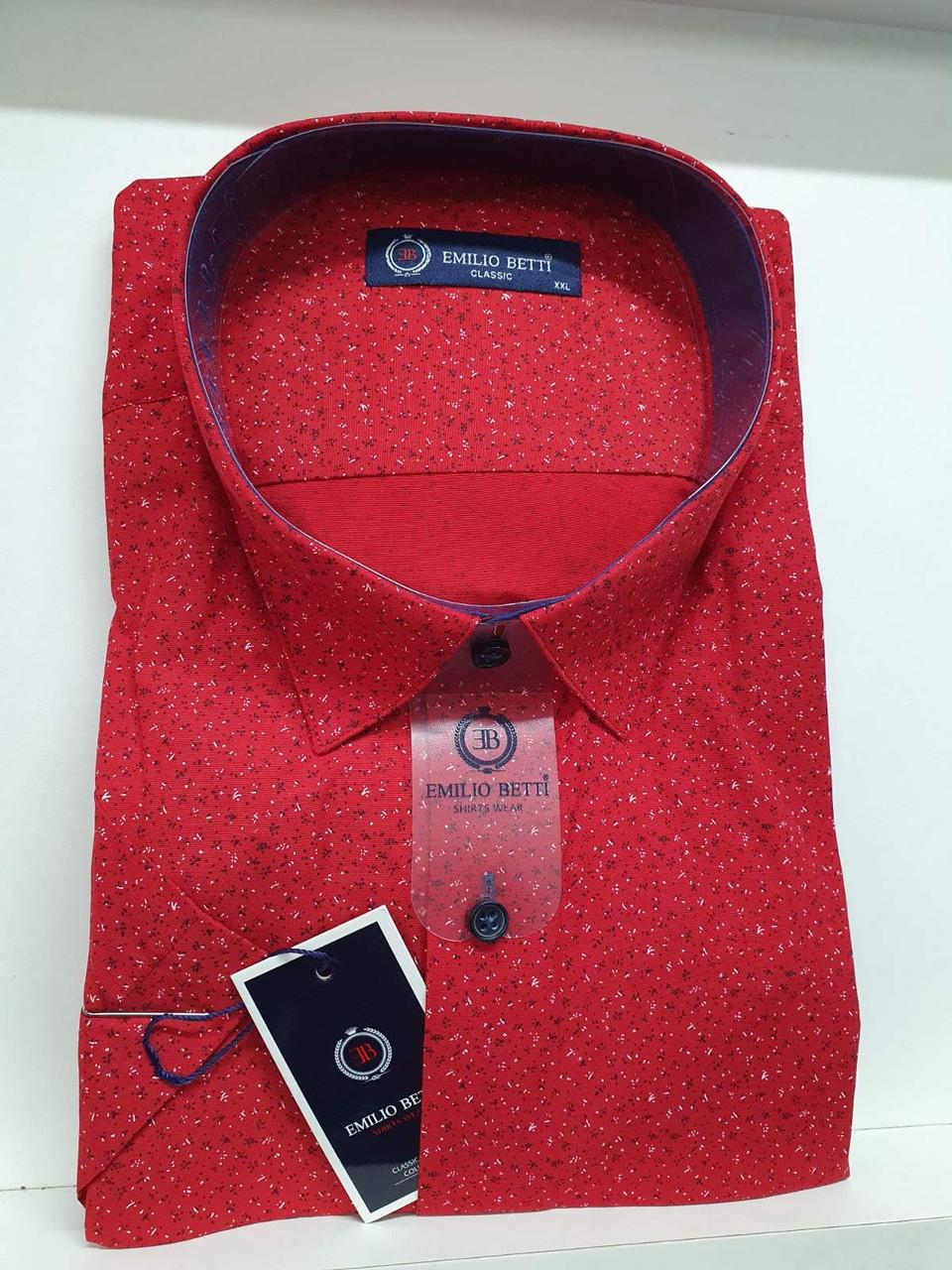 Рубашка с коротким рукавом Emillio Betti classik с принтом