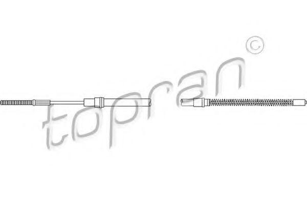 Трос ручного тормоза Topran 103062