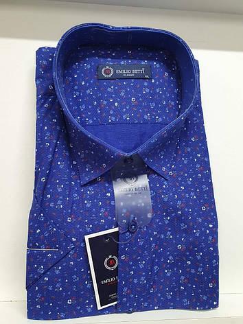 Рубашка с коротким рукавом Emillio Betti classik с принтом, фото 2