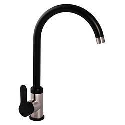 Смеситель для кухни ZERIX LR74105B черный (LL1206)