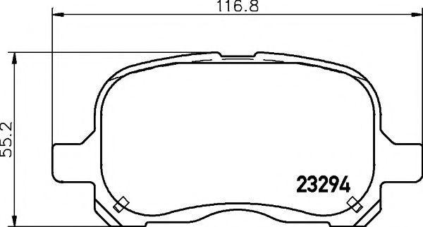 Колодки гальмівні Toyota 0446502010
