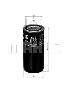 Фильтр масляный двигателя Knecht (Mahle) HC2