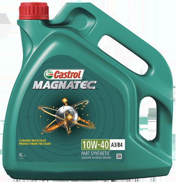 Масло моторное полусинтетическое Magnatec A3/B4 10W-40, 4л Castrol 14F69D