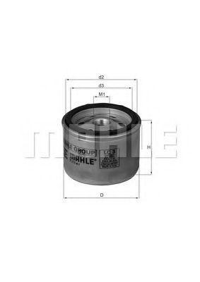 Фильтр воздушный Knecht (Mahle) LC3