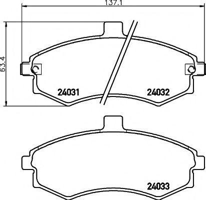 Колодки тормозные дисковые, комплект Koreastar KBPH003