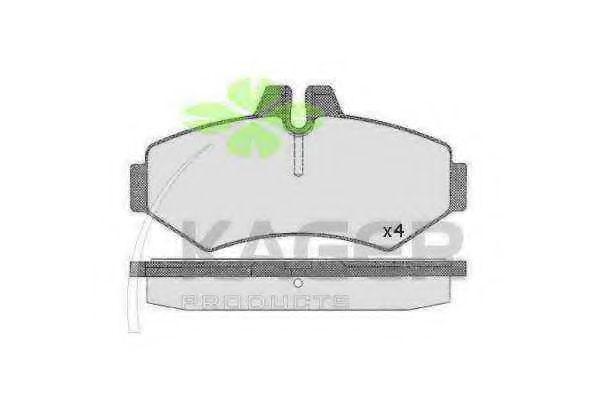 Колодки тормозные дисковые задние, комплект KAGER 350459