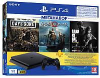 PlayStation 4 1ТВ в комплекті з 3 іграми і підпискою PS Plus