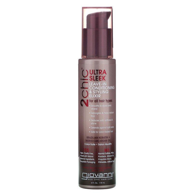 "Термозащита для волос Giovanni, 2chic ""Ultra-Sleek Leave-In Conditioning & Styling Elixir"" (118 мл)"