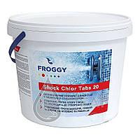 Хлор для дезинфекции, таблетки. ( 0.9 кг , 4 кг) Tabs T0140 Шоковый хлор в таблетках Froggy ShockChor